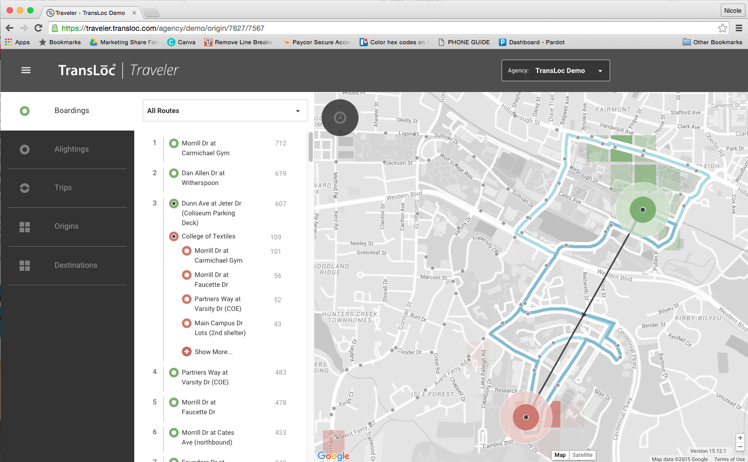 Traveler Demo Screenshot -