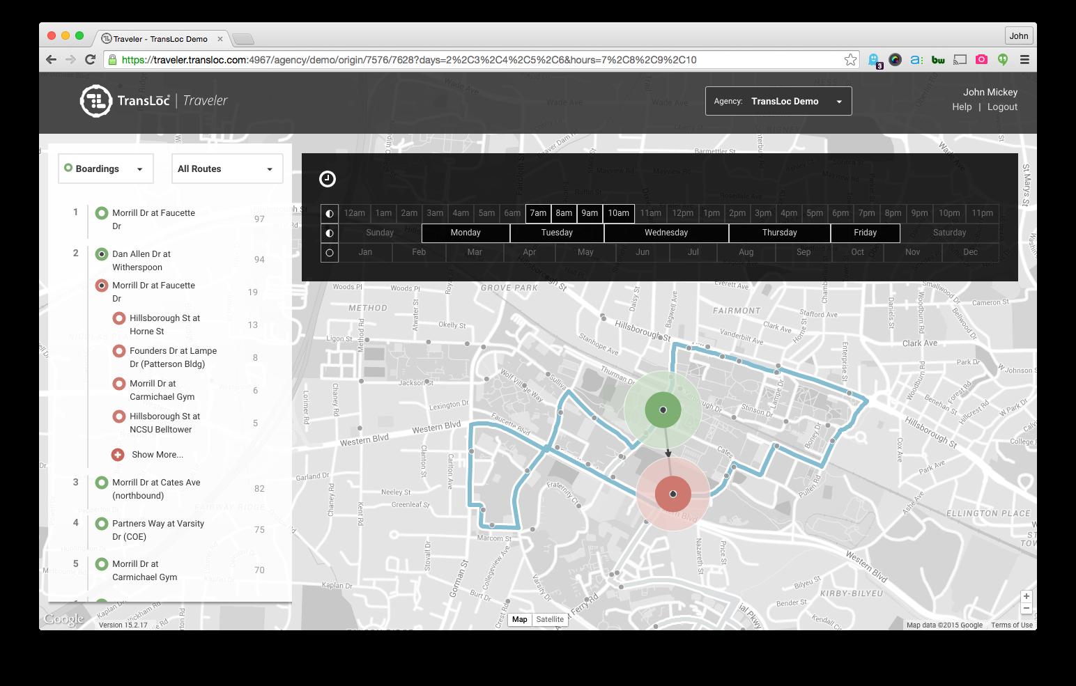 Time Filter Screenshot